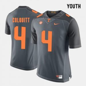 Vols Football #4 Grey Britton Colquitt College Jersey For Kids