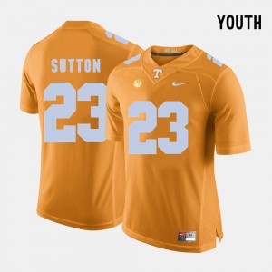 Orange Youth Tennessee Volunteers Football #23 Cameron Sutton College Jersey