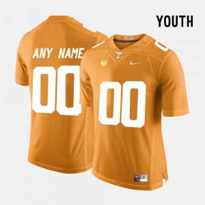 Vols Orange Limited Football Kids College Custom Jerseys #00