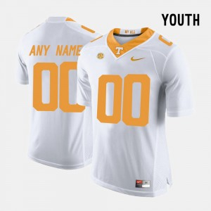 University Of Tennessee For Kids College Customized Jersey Limited Football #00 White