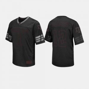 #1 Football Aggie College Jersey For Men's Black