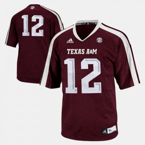 College Jersey For Kids Football Aggie #12 Burgundy