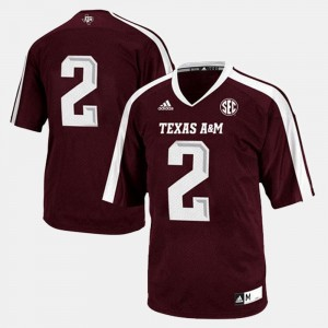 Texas A&M College Jersey #2 For Men's Maroon Football