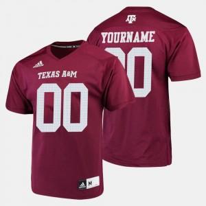 Texas A&M Aggies College Customized Jerseys Football Maroon Mens #00