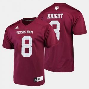 Football Men's Texas A&M Trevor Knight College Jersey Maroon #8