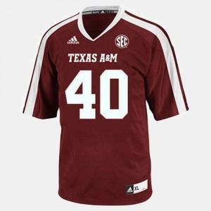 Football #40 Red Texas A&M Aggies Von Miller College Jersey Men's