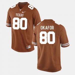 Burnt Orange For Men Alex Okafor College Jersey #80 Longhorns Football