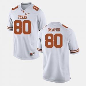 #80 Alex Okafor College Jersey Men White Texas Longhorns Football