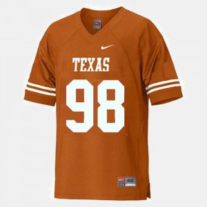 #98 Longhorns For Kids Football Brian Orakpo College Jersey Orange