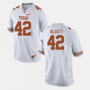 UT #42 For Men's Football Caleb Bluiett College Jersey White