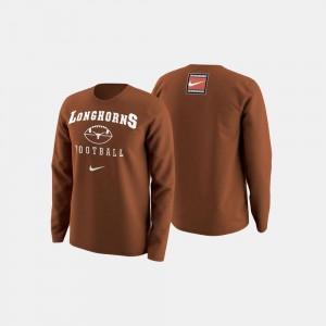 Orange College Sweater University of Texas Men Football Retro Pack