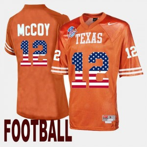 Throwback Orange Mens Colt McCoy College Jersey #12 University of Texas