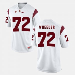 For Men USC Chad Wheeler College Jersey Pac-12 Game #72 White