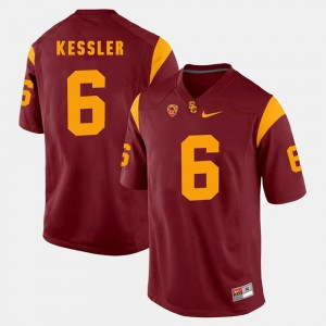 Red #6 Cody Kessler College Jersey For Men Pac-12 Game Trojans