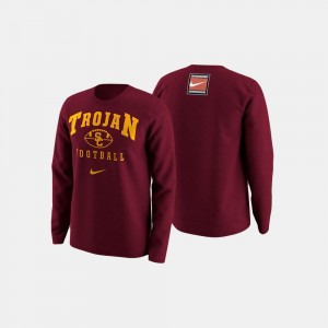 College Sweater Trojans Cardinal Football Retro Pack For Men