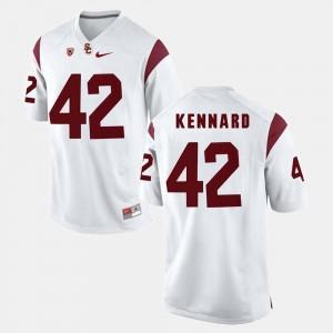#42 USC White For Men Pac-12 Game Devon Kennard College Jersey