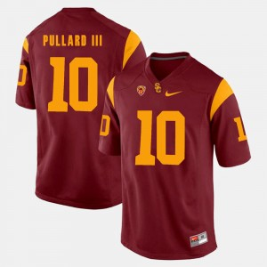 For Men Pac-12 Game USC Trojans Hayes Pullard III College Jersey #10 Red