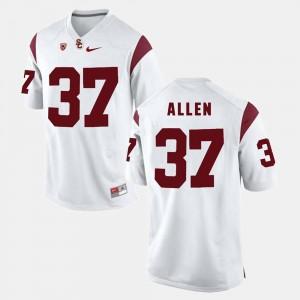 USC Trojan Javorius Allen College Jersey Pac-12 Game For Men's White #37