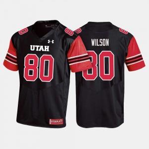 Siaosi Wilson College Jersey For Men's Football Black University of Utah #80