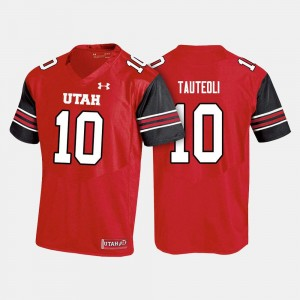 #10 Sunia Tauteoli College Jersey Red For Men's Football Utes