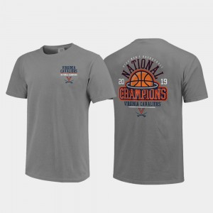 College T-Shirt 2019 NCAA Basketball National Champions Above the Rim Comfort Color 2019 Men's Basketball Champions For Men's Gray Virginia Cavaliers
