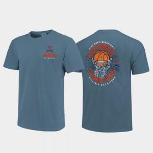 College T-Shirt Cavaliers 2019 Men's Basketball Champions Men 2019 NCAA Basketball National Champions Ball in Net Comfort Color Blue
