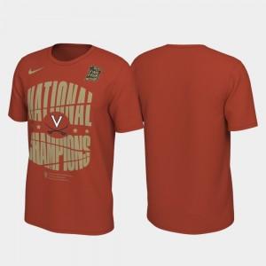 Orange 2019 Men's Basketball Champions UVA Cavaliers Men College T-Shirt 2019 NCAA Basketball National Champions Celebration Shattered Backboard