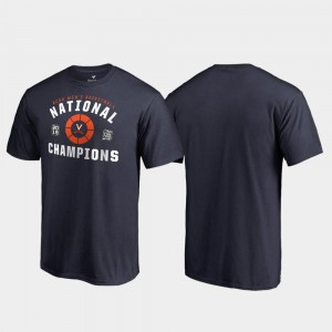 2019 NCAA Basketball National Champions Dribble College T-Shirt Navy For Men 2019 Men's Basketball Champions Cavaliers