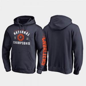 College Hoodie 2019 NCAA Basketball National Champions Dribble Pullover Navy Virginia 2019 Men's Basketball Champions Men