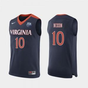Mens 2019 Men's Basketball Champions Cavaliers Jayden Nixon College Jersey #10 Navy