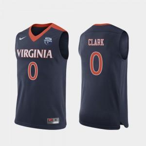 Cavalier #0 2019 Men's Basketball Champions Navy Men Kihei Clark College Jersey