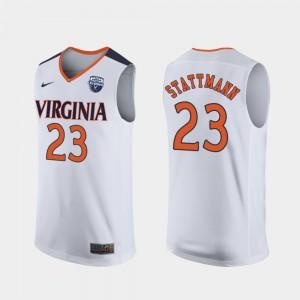 2019 Men's Basketball Champions #23 Kody Stattmann College Jersey White Men Virginia