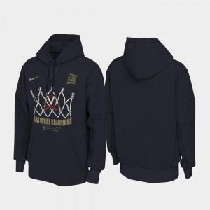 Navy UVA Cavaliers 2019 Men's Basketball Champions 2019 NCAA Basketball National Champions Locker Room Pullover College Hoodie For Men's