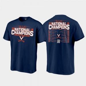 2019 NCAA Basketball National Champions Top Billing Bracket 2019 Men's Basketball Champions For Men College T-Shirt Navy UVA Cavaliers