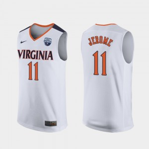 White For Men's Virginia Cavaliers 2019 Men's Basketball Champions #11 Ty Jerome College Jersey