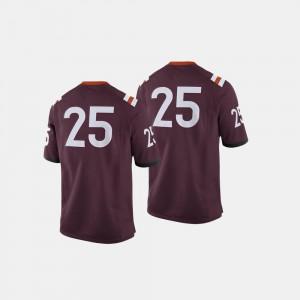 College Jersey VA Tech Maroon Football #25 For Men