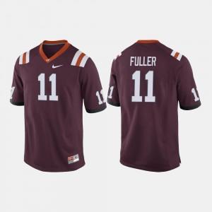 VA Tech #11 Football Maroon Kendall Fuller College Jersey For Men