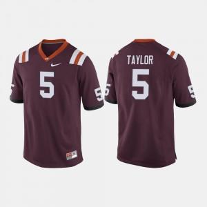 #5 VT Hokies Men Maroon Tyrod Taylor College Jersey Football