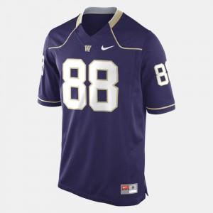 Washington Purple #88 Men's Football College Jersey