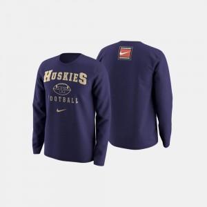 Football Retro Pack UW Purple College Sweater For Men's