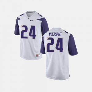 Men Washington Football Kamari Pleasant College Jersey White #24