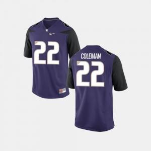 Men's Football Lavon Coleman College Jersey #22 Purple University of Washington