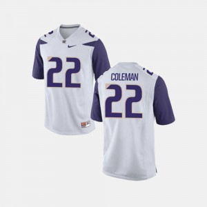 For Men University of Washington #22 Football Lavon Coleman College Jersey White