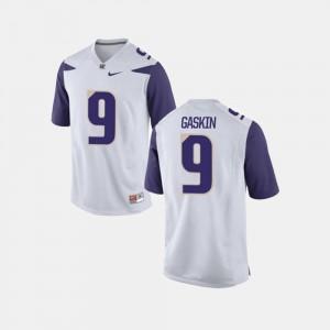Myles Gaskin College Jersey #9 For Men Football Washington White