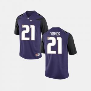 Quinten Pounds College Jersey Football #21 Mens Purple UW