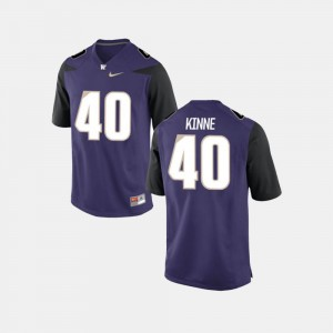 Football UW Men Ralph Kinne College Jersey #40 Purple