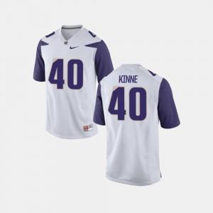 White #40 Ralph Kinne College Jersey For Men's Football Washington