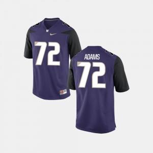 For Men Washington #72 Trey Adams College Jersey Football Purple