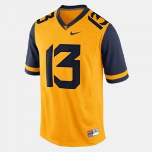 #13 Kids Football West Virginia Mountaineers Gold Andrew Buie College Jersey