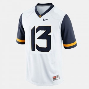 Andrew Buie College Jersey White Mens WVU #13 Football